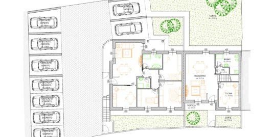 Nuova realizzazione di una villa e due appartamenti